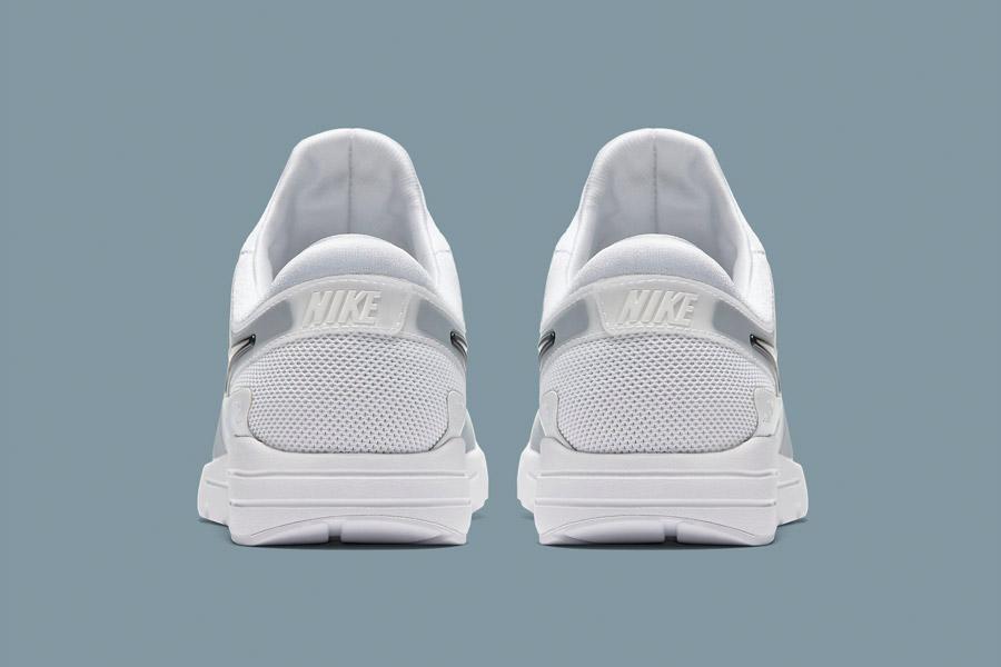 Nike Air Max Zero — bílé (white) — dámské tenisky — sneakers — boty — zadní pohled