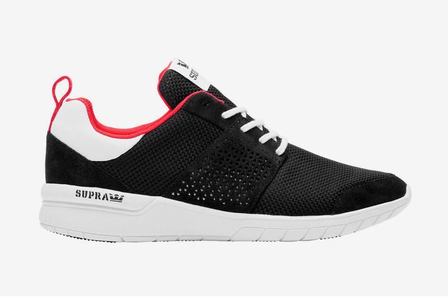 Supra Scissor — boty — tenisky — sneakers — pánské, dámské — černé, červený detail