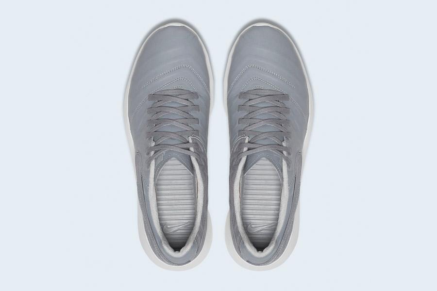 Nike Roshe Tiempo VI QS — tenisky, kožené boty — pánské, dámské — šedé — horní pohled