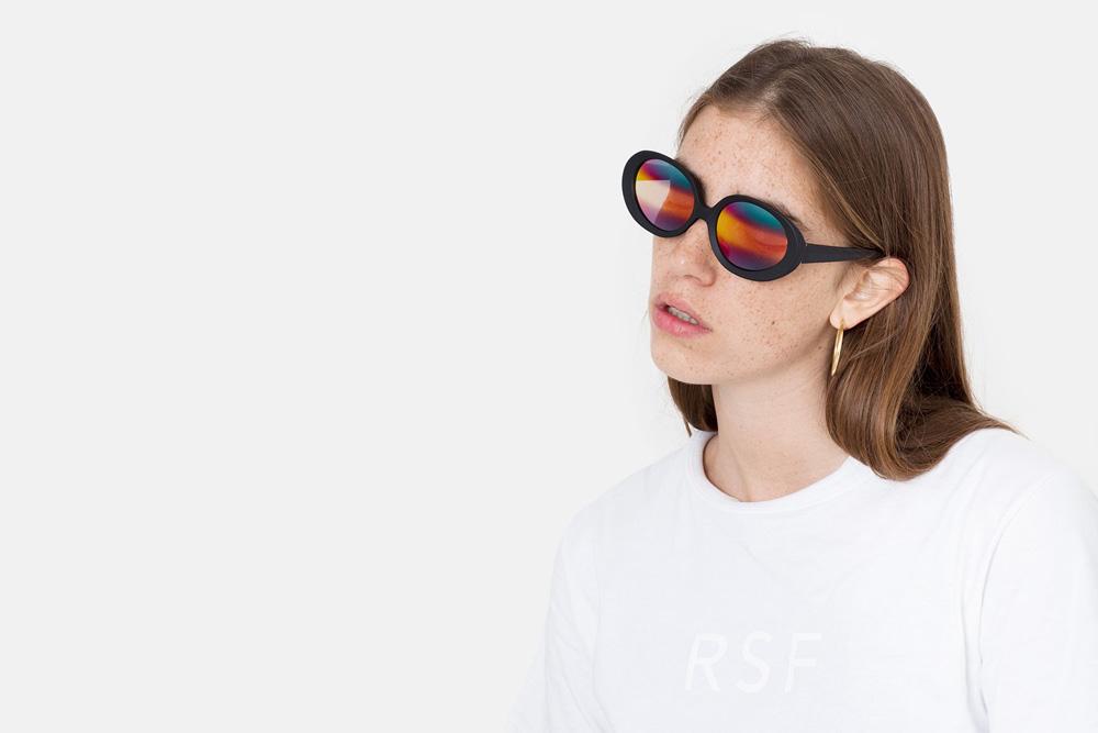 RETROSUPERFUTURE® — sluneční brýle — dámské — černé obroučky — duhová skla