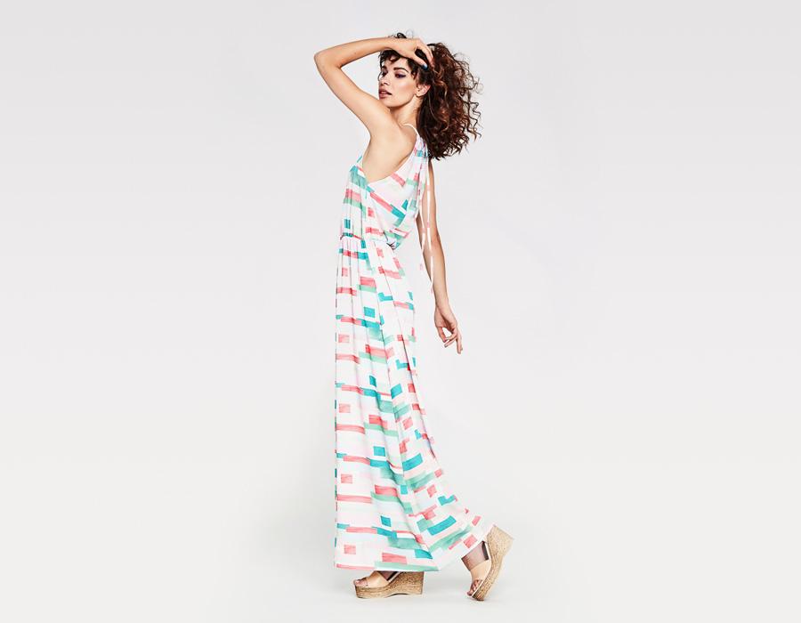 Alchymi — dámské letní šaty — dlouhé s ramínky — barevné, zelené, růžové —