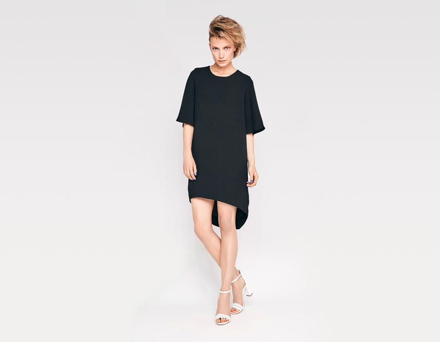 Alchymi — dámské letní šaty — minimalistické, volné — černé — Minor