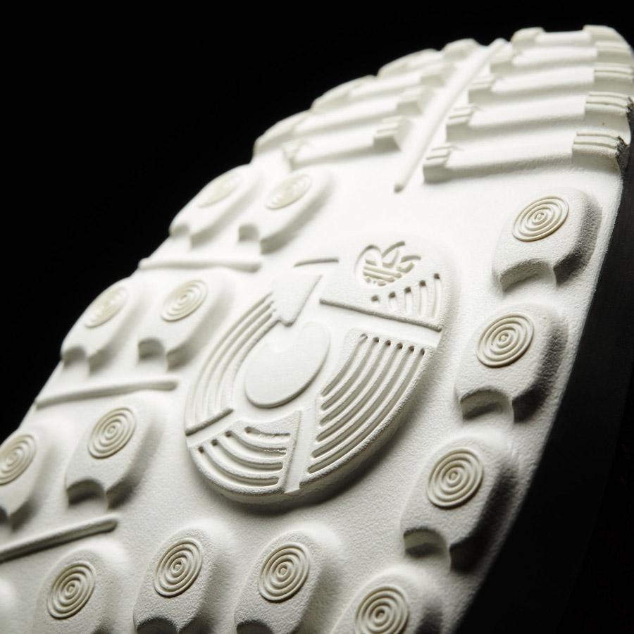 adidas Originals ZX Flux ADV Virtue — dámské boty, tenisky — červené, modré — detail podrážky