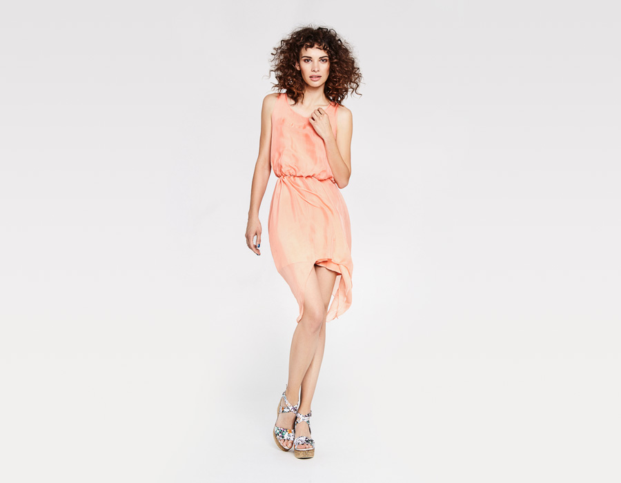 Alchymi — dámské letní šaty — volné, lehké, bez rukávů — meruňkové — Lerosa