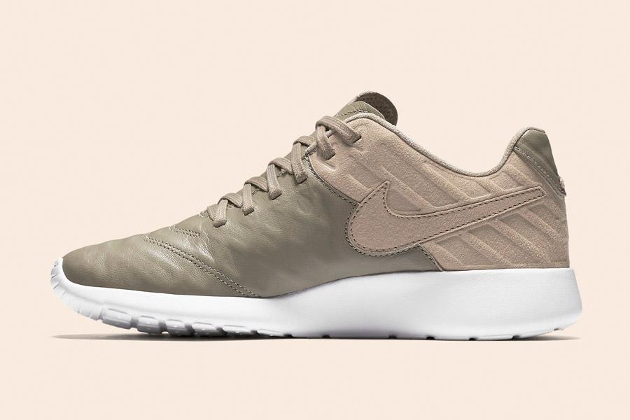 Nike Roshe Tiempo VI QS — tenisky, kožené boty — pánské, dámské — khaki, béžové, hnědé