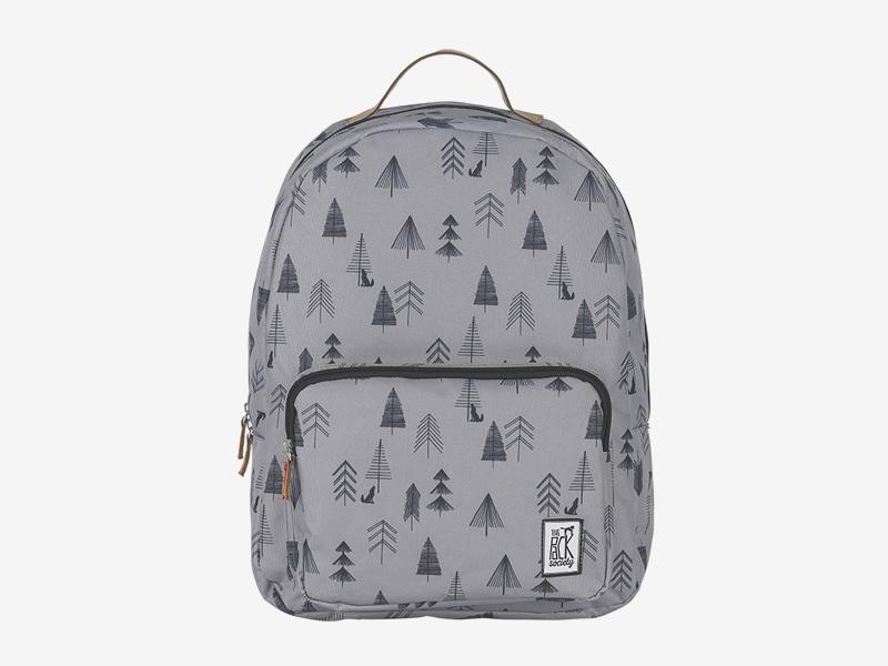 The Pack Society — batoh na záda — šedý — symboly stromů, ilustrace — Classic Backpack — levný batoh
