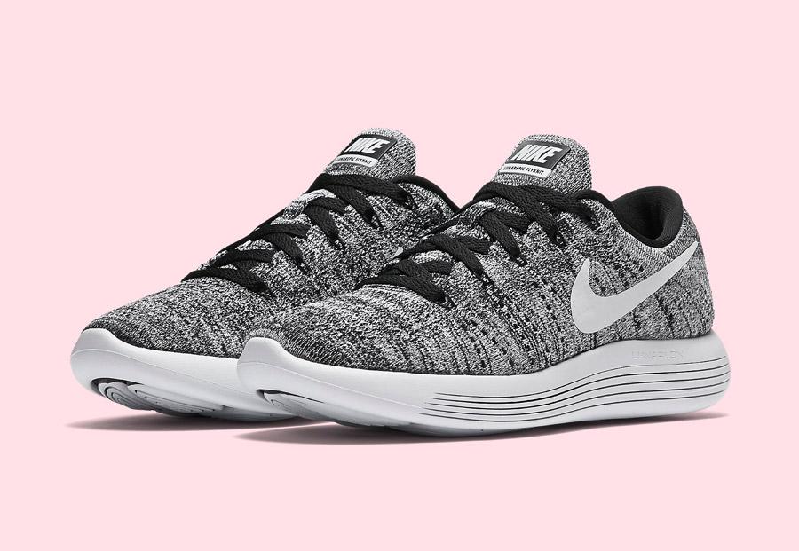Nike LunarEpic Low Flyknit — dámské běžecké boty — tenisky — lehké — textilní — černé, bílé