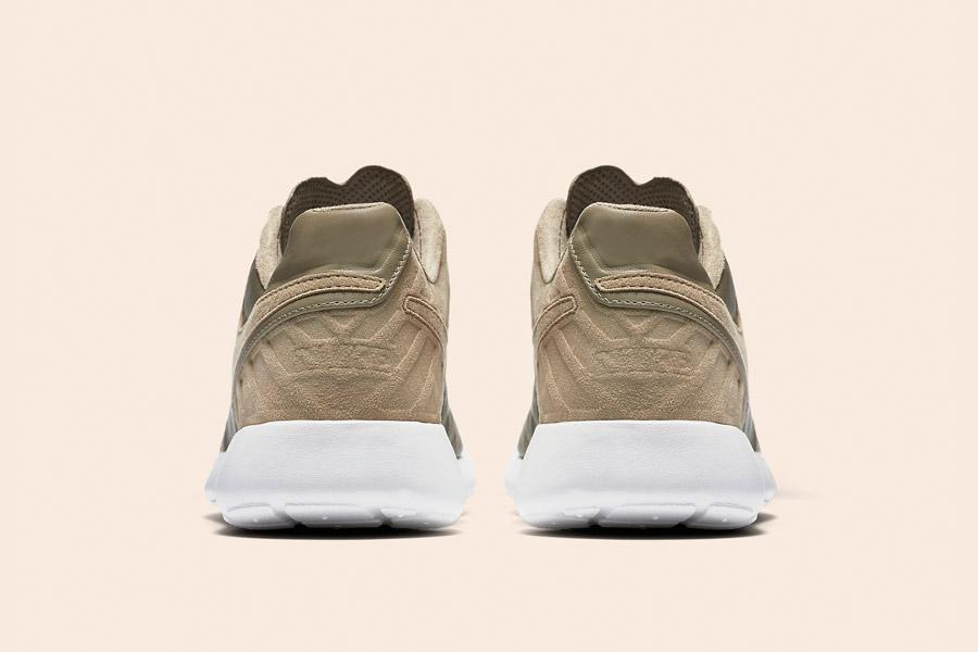 Nike Roshe Tiempo VI QS — tenisky, kožené boty — pánské, dámské — khaki, béžové, hnědé — zadní pohled