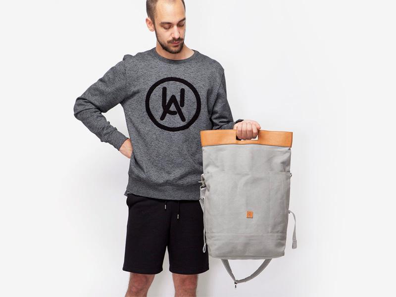 Ucon Acrobatics — plátěný batoh — šedý, béžový vstup — Tarik — stylový batoh