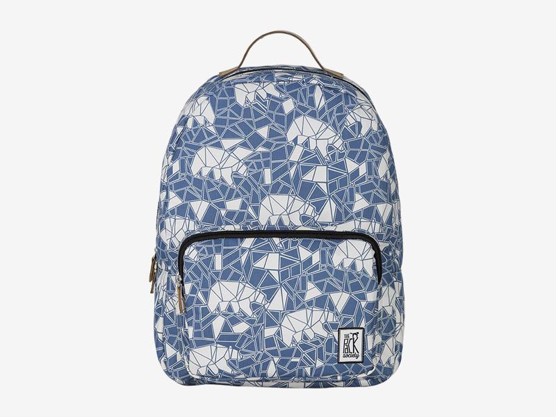 The Pack Society — batoh na záda — modrý, bílý — s geometrickým vzorem — Classic Backpack — levný batoh
