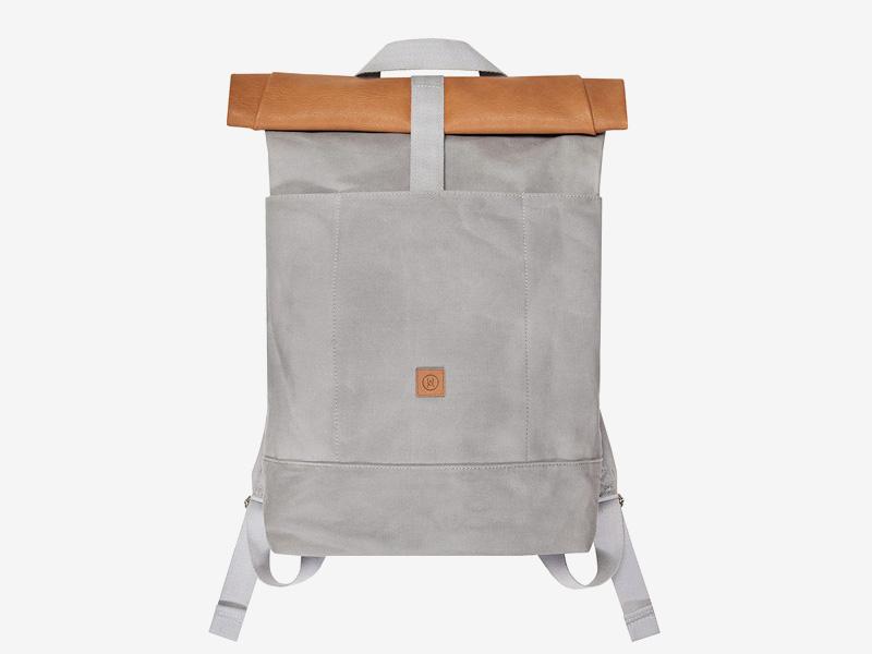 Ucon Acrobatics — plátěný batoh — šedý, béžový vstup — Haras — rolovací vstup — roll top — stylový batoh