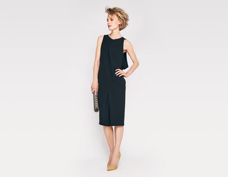 Alchymi — dámské letní šaty — bez rukávů — černé — Faio