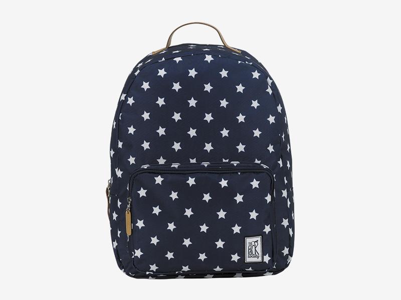 The Pack Society — batoh na záda — modrý — s bílými hvězdami — Classic Backpack — levný batoh