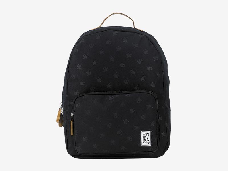 The Pack Society — batoh na záda — černý — šedé symboly — Classic Backpack — levný batoh