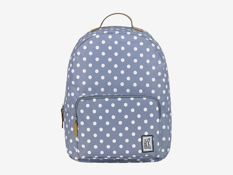 The Pack Society — batoh na záda — šedý — s bílými tečkami, puntíky — Classic Backpack — levný batoh