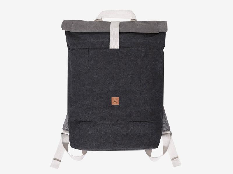 Ucon Acrobatics — plátěný batoh — tmavě šedý — Hajo — rolovací vstup — roll top — stylový batoh