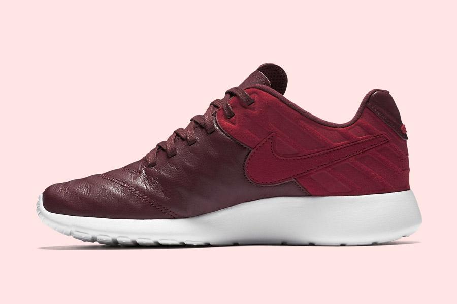 Nike Roshe Tiempo VI QS — tenisky, kožené boty — pánské, dámské — červené, hnědo-řervené