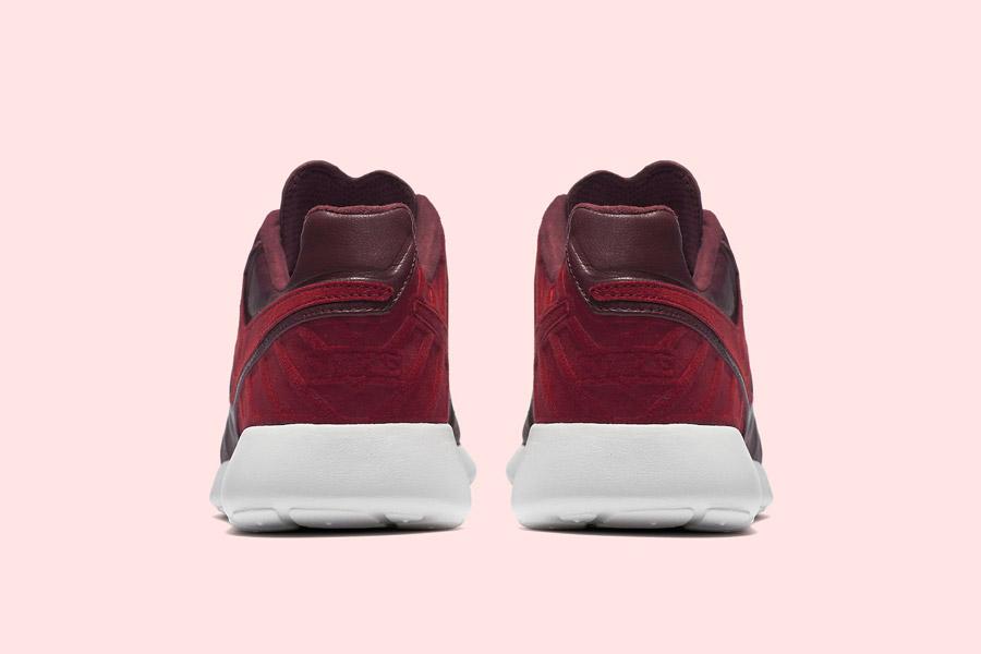 Nike Roshe Tiempo VI QS — tenisky, kožené boty — pánské, dámské — červené, hnědo-řervené — zadní pohled