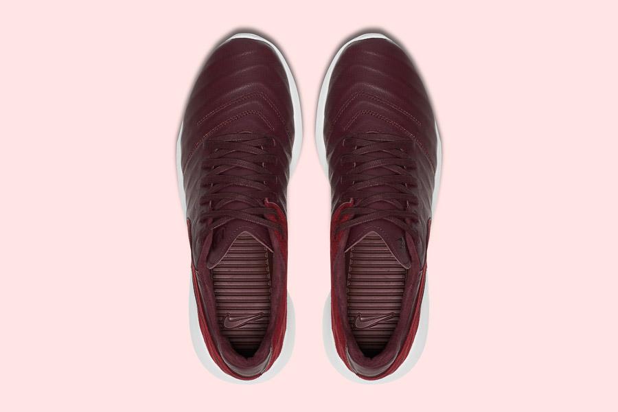 Nike Roshe Tiempo VI QS — tenisky, kožené boty — pánské, dámské — červené, hnědo-řervené — horní pohled