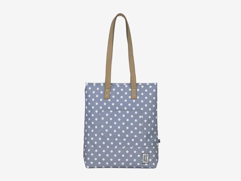 The Pack Society — nákupní taška přes rameno/do ruky — šedá — s bílými tečkami, puntíky — Shopper
