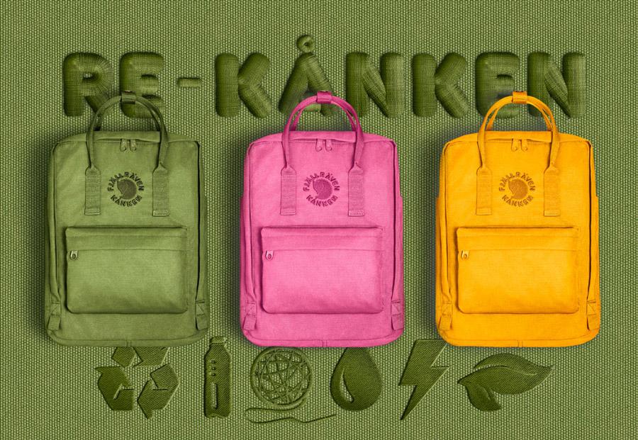 Fjällräven Re-Kånken — batoh — recyklovaný — školní batoh — plátěný