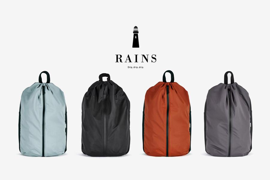 Rains — batoh — nepromokavý, do deště — voděodolný — dámský, pánský, unisex