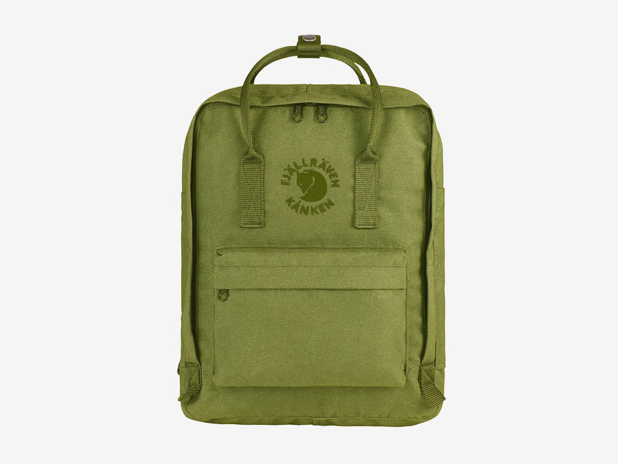 Fjällräven Re-Kånken — batoh — světle zelený — recyklovaný — školní batoh — plátěný
