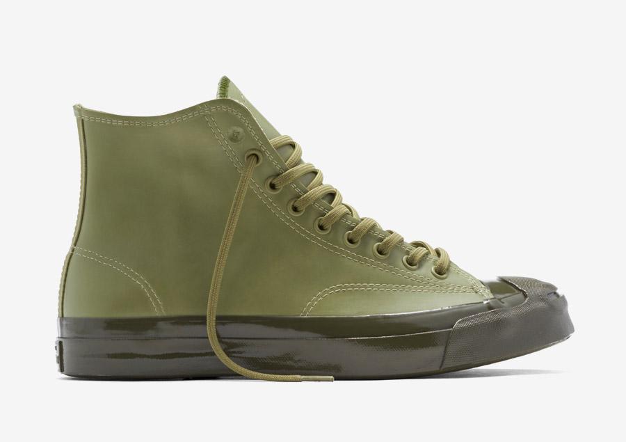 Converse Jack Purcell Signature Rubber — kotníkové boty, tenisky — voděodolné, nepromokavé — pogumované — pánské, dámské — zelené, army green