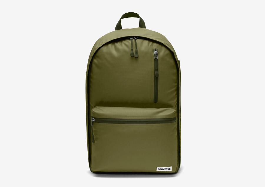 Converse Rubber Backpack — batoh na záda — voděodolný, nepromokavý — pogumovaný — zelený, army green