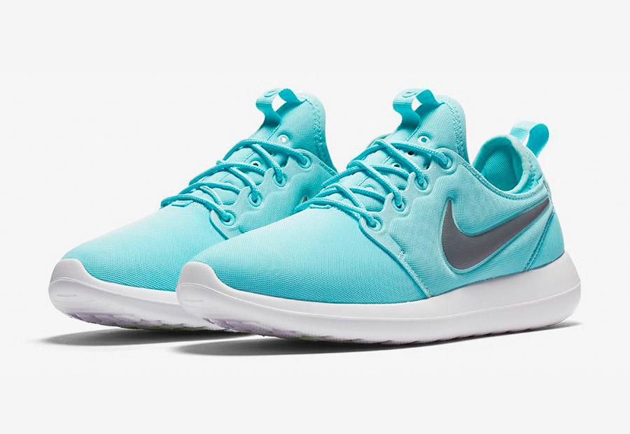 Nike Roshe Two — tenisky — boty — sneakers — dámské — tyrkysové, modré — Nike Roshe Run