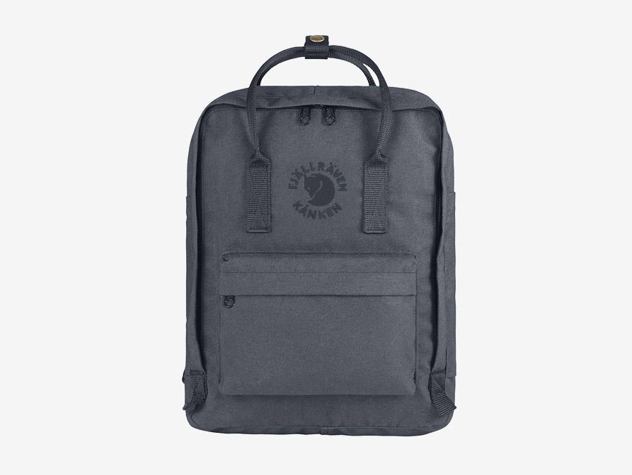Fjällräven Re-Kånken — batoh — šedý — recyklovaný — školní batoh — plátěný