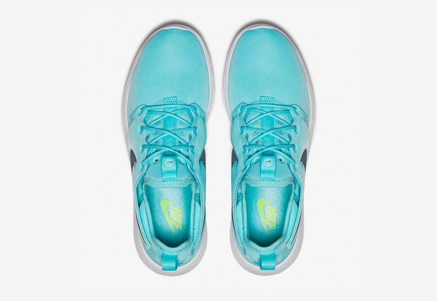 Nike Roshe Two — boty — horní pohled — modré, tyrkysové — Nike Roshe Run