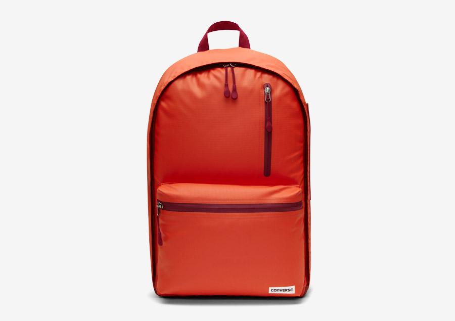 Converse Rubber Backpack — batoh na záda — voděodolný, nepromokavý — pogumovaný — křiklavě červený