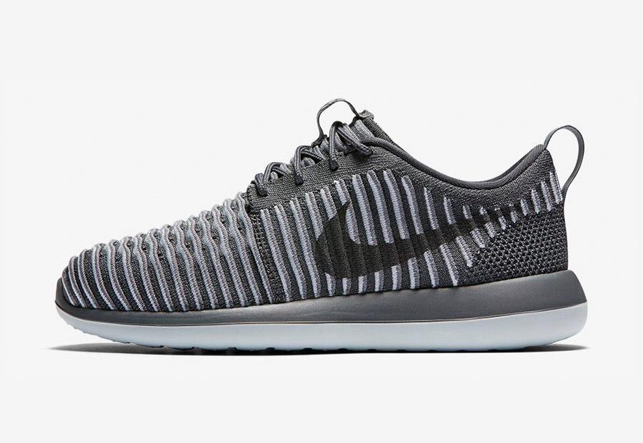 Nike Roshe Two Flyknit — boty — tenisky — sneakers — pánské — šedé — Nike Roshe Run