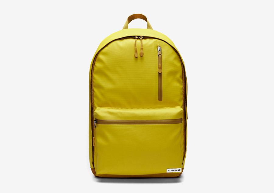 Converse Rubber Backpack — batoh na záda — voděodolný, nepromokavý — pogumovaný — žlutý, citrónový