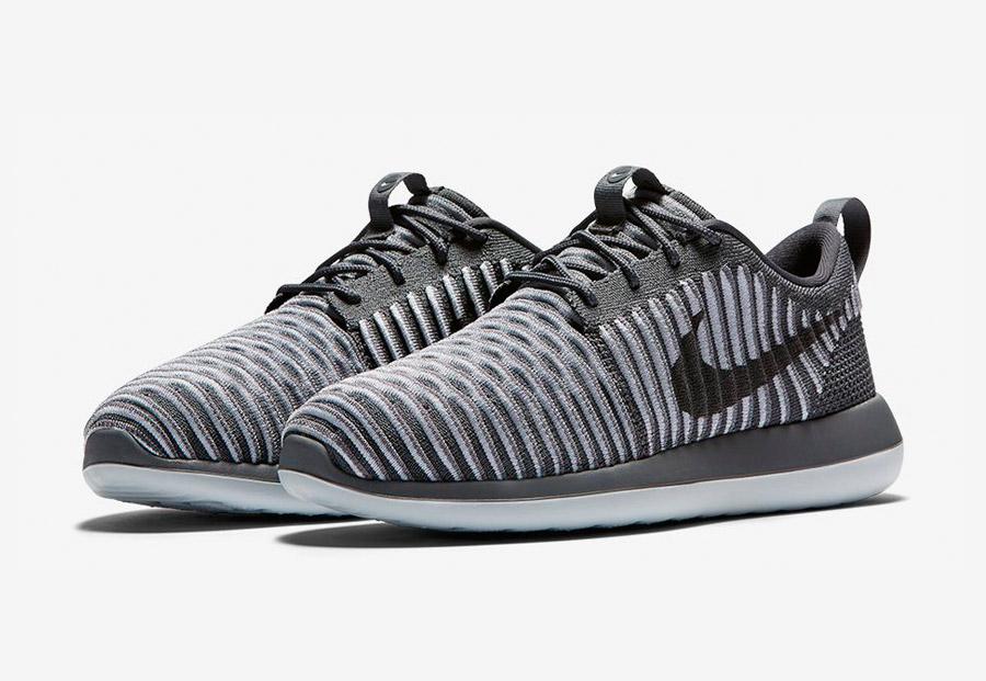 Nike Roshe Two Flyknit — tenisky — boty — sneakers — pánské — šedé — Nike Roshe Run