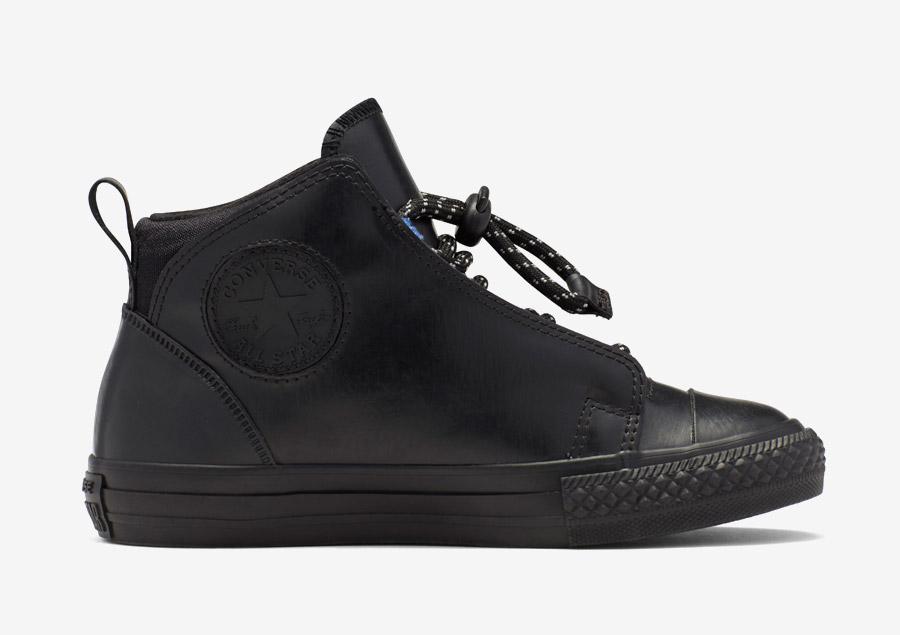 Converse Kids Chuck Taylor All Star Storm — dětské kotníkové boty, tenisky — voděodolné, nepromokavé — pogumované — černé