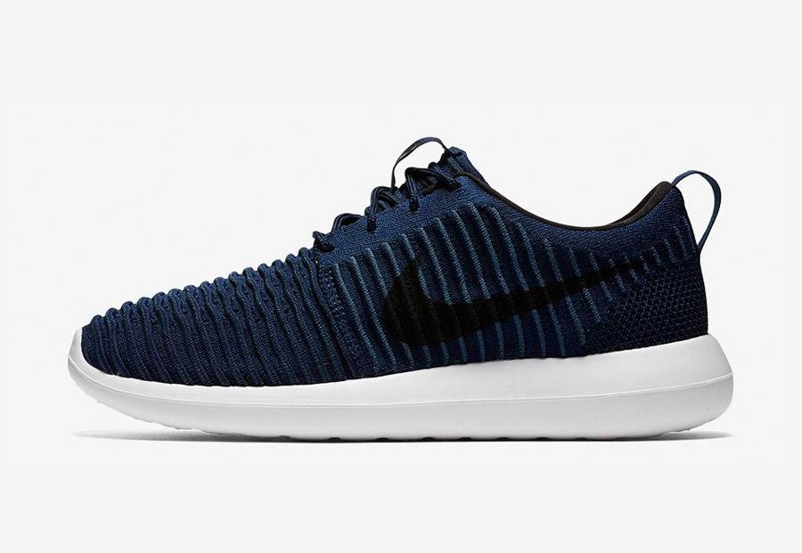 Nike Roshe Two Flyknit — boty — tenisky — sneakers — pánské — modré — Nike Roshe Run