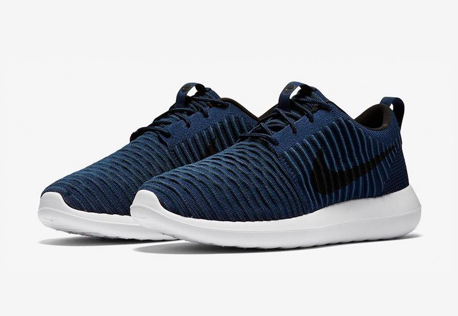 Nike Roshe Two Flyknit — tenisky — boty — sneakers — pánské — modré — Nike Roshe Run
