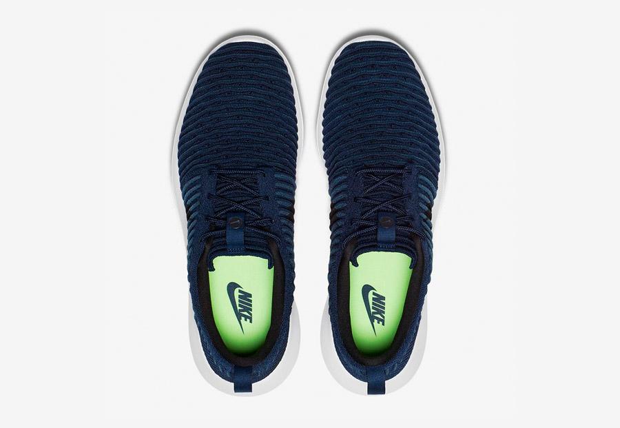 Nike Roshe Two Flyknit — boty — horní pohled — modré — Nike Roshe Run