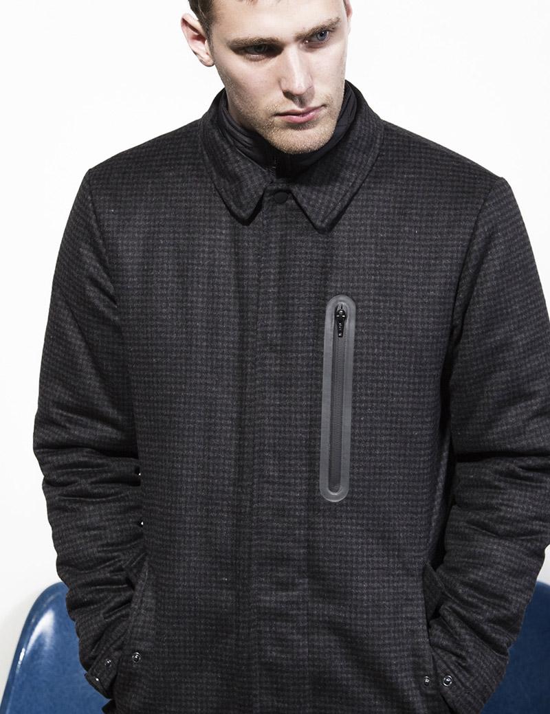 RVLT — Revolution — pánská zimní bunda bez kapuce — černá — podzim/zima 2016