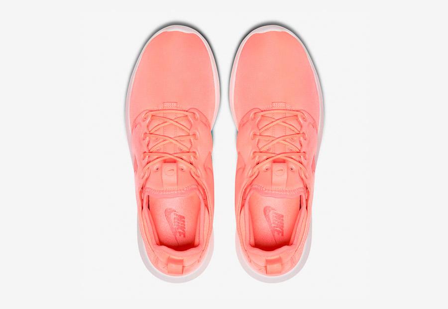 Nike Roshe Two — boty — horní pohled — oranžové — Nike Roshe Run
