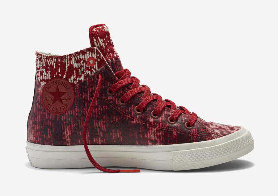 Converse Chuck Taylor All Star II Rubber — kotníkové boty, tenisky — voděodolné, nepromokavé — pogumované — červené