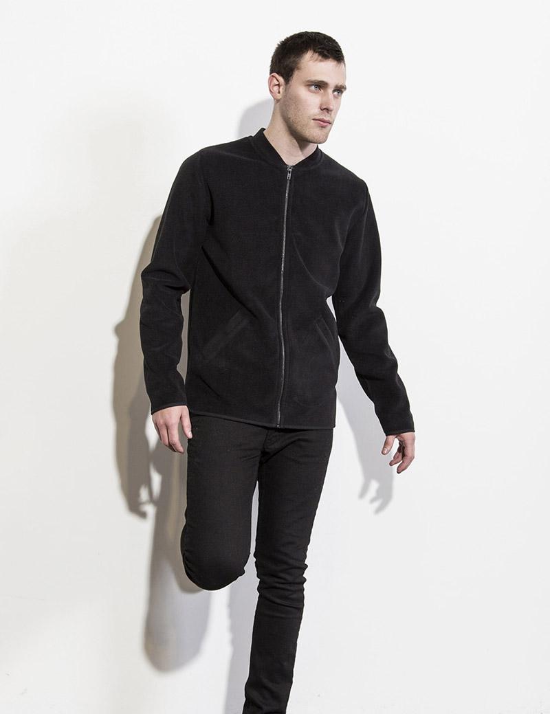 RVLT — Revolution — pánská černá podzimní bunda bez kapuce — černé skinny fit kalhoty, pánské — podzim/zima 2016