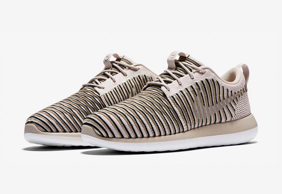 Nike Roshe Two Flyknit — tenisky — boty — sneakers — dámské — béžové, pískové — Nike Roshe Run
