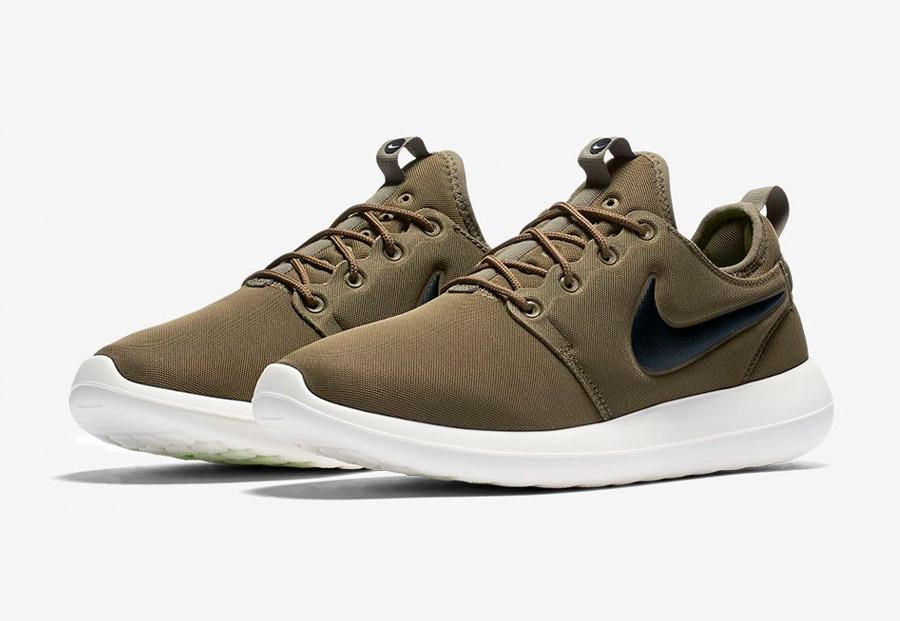 Nike Roshe Two — tenisky — boty — sneakers — pánské — hnědo-zelené, army green — Nike Roshe Run