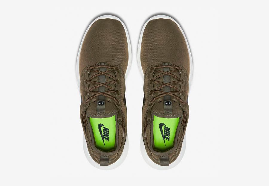 Nike Roshe Two — boty — horní pohled — hnědo-zelené, army green — Nike Roshe Run
