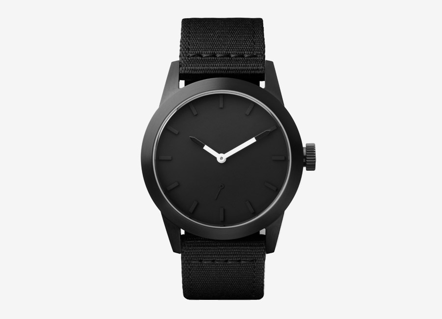 Triwa x Stampd — černé hodiny — dámské, pánské — minimalistické, náramkové