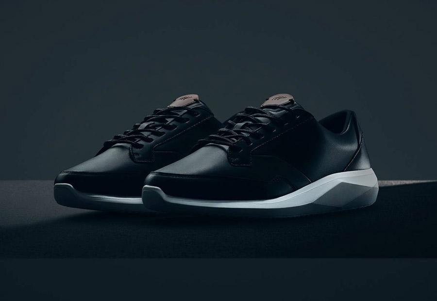 Boxfresh — Rily — boty — kožené — futuristické tenisky, sneakers — černé — pánské