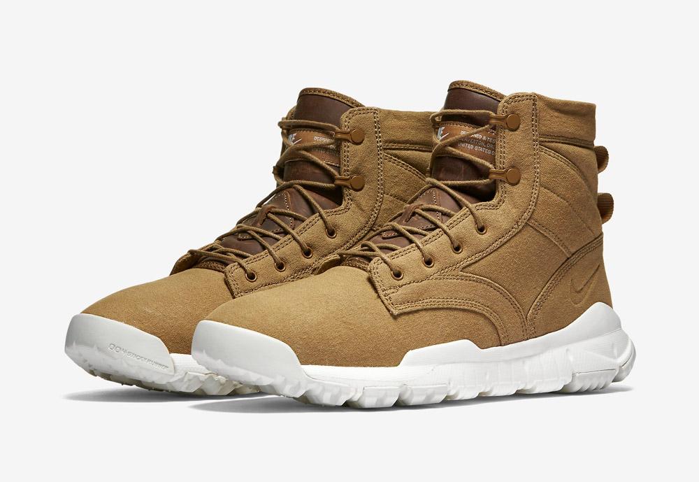 """Nike SFB Field 6"""" Canvas — pánské zimní a podzimní kotníkové boty — zimní, podzimní — vysoké — béžové, hnědé, pískové"""